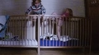 getlinkyoutube.com-Twins Baby Climbing out of Crib - The Art of Crib Hopping - Babies Escape from Crib