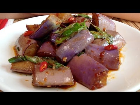Asian Eggplant Recipes-How To Cook Eggplant-Stir Fry-Vegetarian