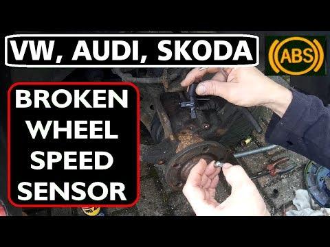 VW, Audi, Skoda, Seat, BROKEN ABS WHEEL SPEED SENSOR