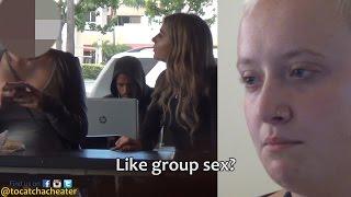 getlinkyoutube.com-GIRL TESTS HER GIRLFRIEND'S LOYALTY AT A STARBUCKS!