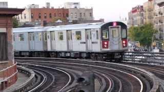 getlinkyoutube.com-IRT White Plains Rd Line: R142 2 Trains at Simpson St-Westchester Ave