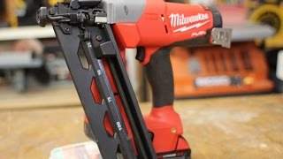 getlinkyoutube.com-Milwaukee M18 16 Gauge Finish Nailer 2742 21CT