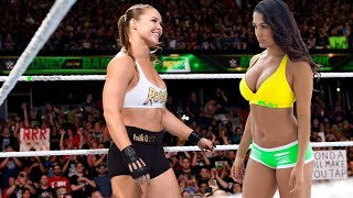 Ronda Rousey versus Nikki Bella WWE Full Match Video Breakdown by Paulie G