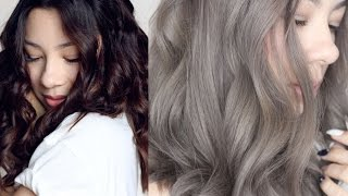 getlinkyoutube.com-GREY HAIR : FROM BROWN TO ASH GREY HAIR