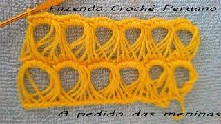 getlinkyoutube.com-Fazendo crochê peruano!!! A pedido das meninas