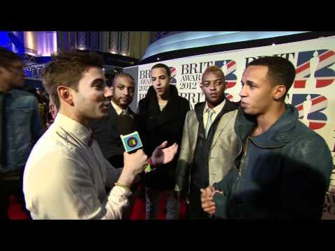 One Direction, Little Mix and JLS at The Brits 2012 on CBBC Newsround