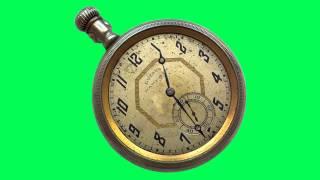 getlinkyoutube.com-Free Green Screen - Reloj Antiguo - Clock Animated - HD