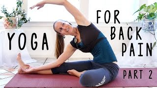 getlinkyoutube.com-Easy Stretches for Low Back Pain, Back Pain Yoga Exercises Beginner Friendly Sciatica Relief, Part 2