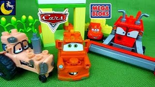 Disney Cars Mega Bloks Toys Tractor Tipping Frank Chewball Tractor Tow Mater Lightning Mcqueen Toys!