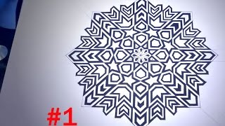getlinkyoutube.com-How To Draw Islamic Geometric Patterns - 8 Phases Of The Moon #1