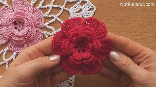 getlinkyoutube.com-CROCHET doily Crochet flower Tutorial Part 1