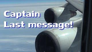 getlinkyoutube.com-完全収録!!! 機長のラストメッセージ!!! ANA126便 ジャンボラストフライト JA8961 Boeing 747