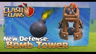 getlinkyoutube.com-Clash of Clans Update tháng 10/2016 - Trụ phòng thủ mới BOMB TOWER