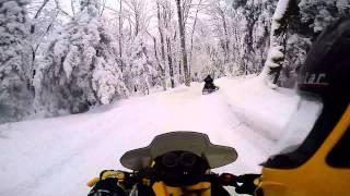 getlinkyoutube.com-Tug Hill Snowmobiling  Jan 10 2014