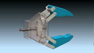 getlinkyoutube.com-Robot Gripper Mechanism in SolidWorks 2012