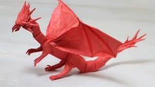 getlinkyoutube.com-Origami Western Dragon instructions (Shuki Kato)