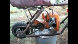 getlinkyoutube.com-Мопед из бензопилы(Moped from chainsaw)