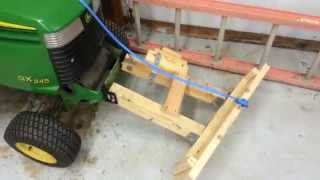 getlinkyoutube.com-Homemade snow plow for lawnmower for $12! How to.