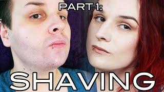 getlinkyoutube.com-Hide Facial Hair (with Makeup!) Part 1: Shaving