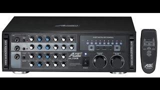 getlinkyoutube.com-Karaoke amplfier, Audio2000 akj7003 AKJ 7003 mixing amp, karaoke mixer karaoke amp