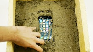 getlinkyoutube.com-Putting an iPhone 7 Inside Concrete Rock - What Will Happen?