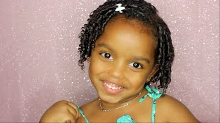 getlinkyoutube.com-Finger Coils: Curly Hair Tutorial for Kids   Yoshidoll
