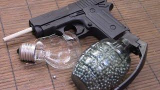 getlinkyoutube.com-ПНЕВМАТ из игрушечного пистолета.