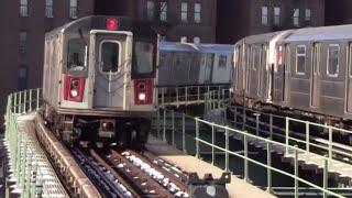 getlinkyoutube.com-ᴴᴰ R142 2 Train to New Lots Avenue Making a Stop at Saratoga Avenue
