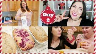 getlinkyoutube.com-Vlogmas 2016 ❄ Day 2 | Egg Nog Mini Loaf Recipe + Trying Horned Melon w/Mama Bee