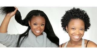 getlinkyoutube.com-Long Hair In 10 Minutes (Styling Tutorial) - KnappyHairExtensions