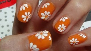 getlinkyoutube.com-Easy Nails Art Design Using A Toothpick  - Simple Flower Nail Art for Beginners