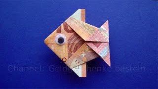 getlinkyoutube.com-Geldschein falten Fisch: Tiere basteln für Geldgeschenke - Geld falten zur Hochzeit - Origami