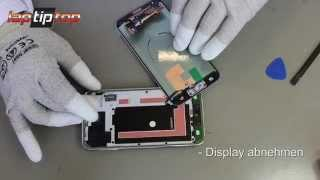 getlinkyoutube.com-Samsung Galaxy S5 SM-G900 Display LCD Modul Einheit Reparatur Disassembly Assembly Glass Repair