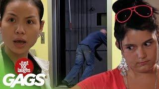 getlinkyoutube.com-Best Elevator Pranks - Best Of Just For Laughs Gags