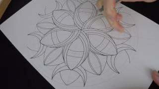 getlinkyoutube.com-How to draw Crescents mandala - original pattern