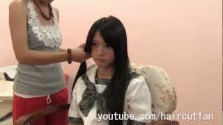 getlinkyoutube.com-刈り上げJK 5  ☆ High School Girl Haircut  Short BOB  断髪