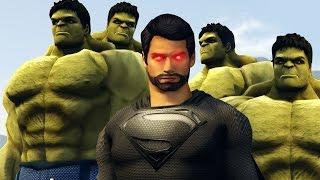 getlinkyoutube.com-BLACK SUPERMAN vs HULK ARMY | GTA 5 Epic Battle w/ Mods