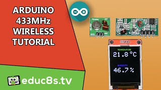 getlinkyoutube.com-Arduino Tutorial: 433Mhz Wireless modules basic setup and example using DHT22 temperature sensor.