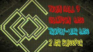 getlinkyoutube.com-Clash of clans   Town Hall 9   Trophy - War Base   Champion Base   W/Replay