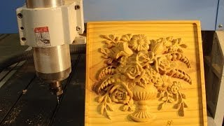 getlinkyoutube.com-10 CNC Router Machining a $100 3D flower display