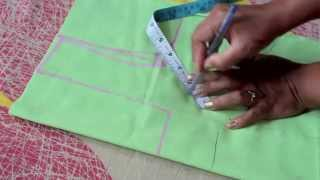 getlinkyoutube.com-HOW TO MEASURE AND CUT SIMPLE BLOUSE(PART 1)