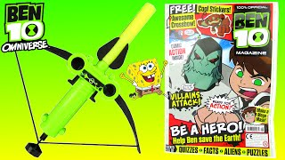 getlinkyoutube.com-BEN 10 OMNIVERSE TOYS EPISODE Official Magazine & Comic Reading Ben 10 vs Spongebob Video 2015