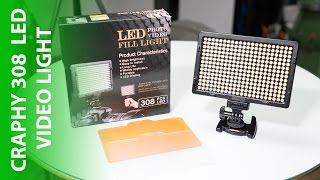 Craphy 308 LED Video Light Review - Bright and Light on the wallet