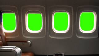 getlinkyoutube.com-Airplane Windows - green screen