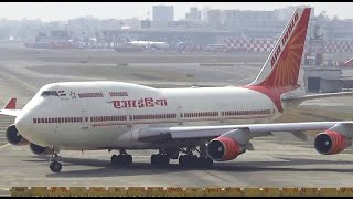 Very short Takeoff Air India Boeing 747-400