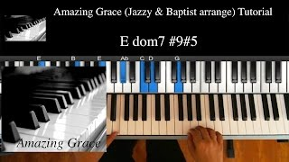 "getlinkyoutube.com-Middle Lv (★★★☆☆) ""Amazing Grace - Jazzy & Baptist"" / R&B, Soul, Gospel Piano Lesson #7"