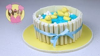 getlinkyoutube.com-Make a Ducks in Pond Kit-Kat Cake - Baby shower - Part 1 with Aunty Elise from My Cupcake Addiction