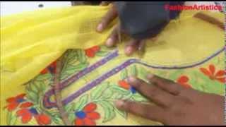getlinkyoutube.com-How To Sew Cut Salwar Kameez-Designer Kameej MAKING Method/Simple Way