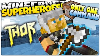 getlinkyoutube.com-Minecraft | How To Be A Superhero! | THOR! | Only One Command (One Command Creation)