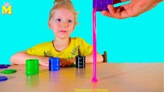 getlinkyoutube.com-Лизун слизняк в бочках, разных цветов!